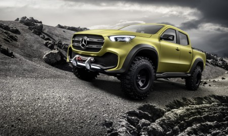 Mercedes-Benz Concept X-CLASS powerful adventurer – Exterieur, Lemonaxmetallic ;Mercedes-Benz Concept X-CLASS powerful adventurer – Exterior, Lemonax metallic;