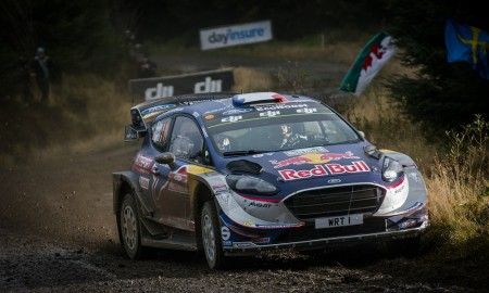 Sebastien Ogier (FRA) , Julien Ingrassia (FRA)  perform during FIA World Rally Championship in Deeside, Great Britain on  29.10.2018