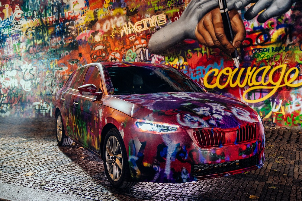 skoda-scala-camouflage-lennon-wall-front-light